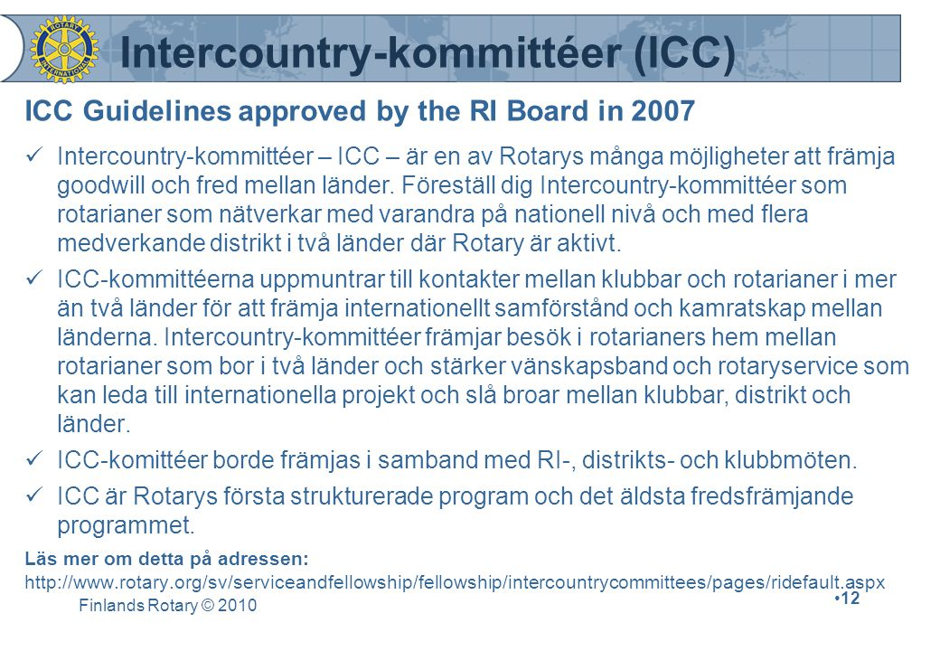 Intercountry-kommittéer (ICC)