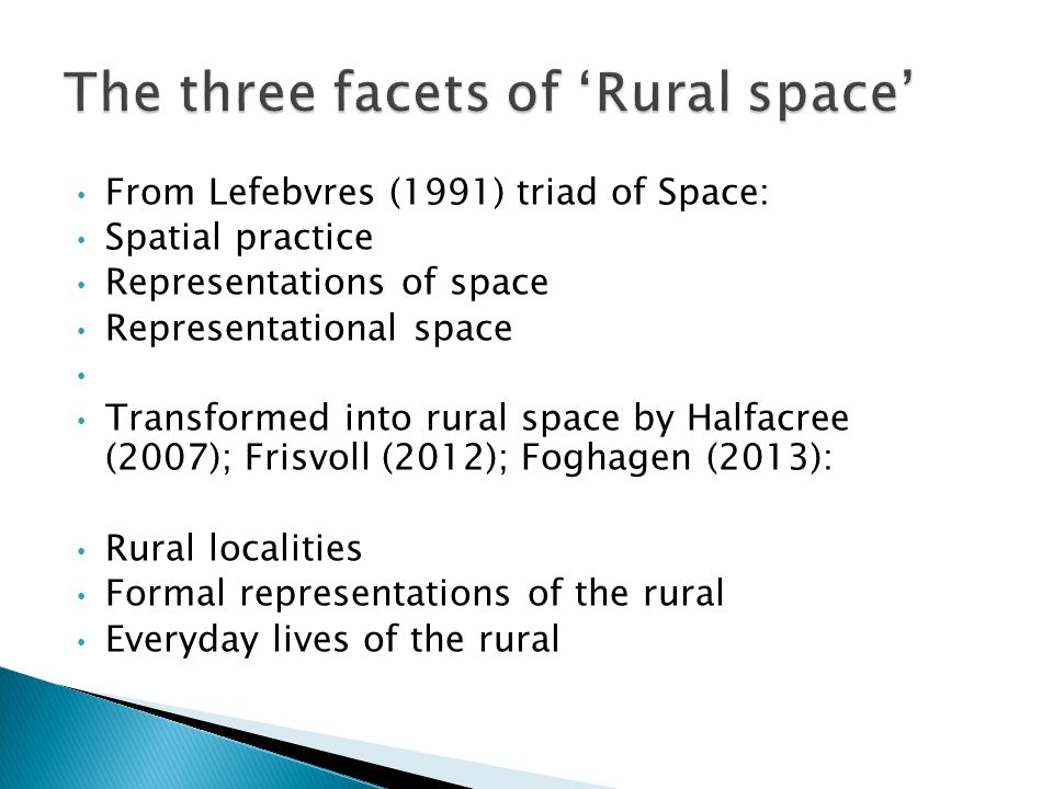 The three facets of 'Rural space'