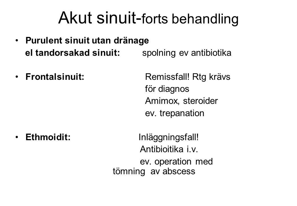Akut sinuit-forts behandling