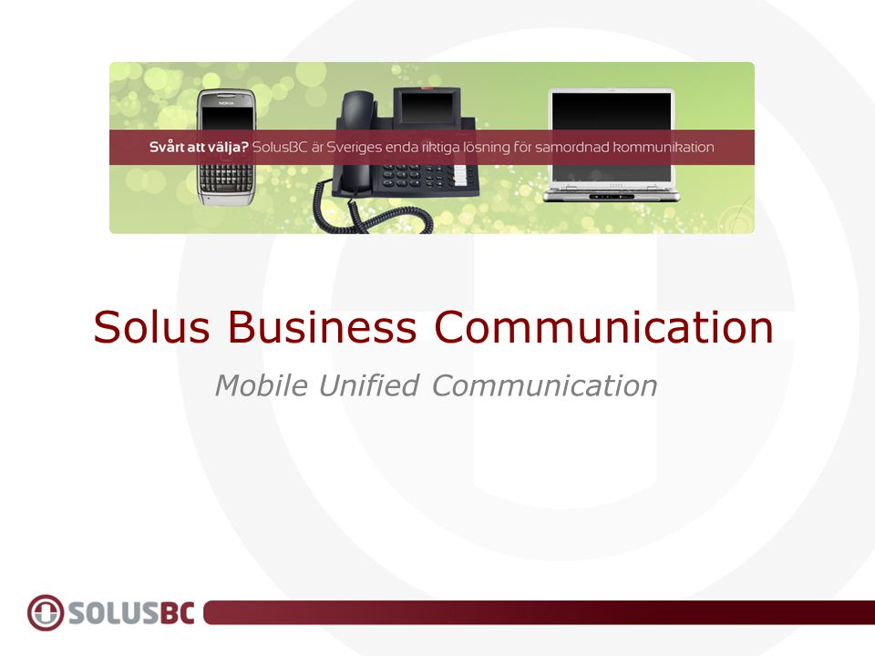 Solus Business Communication