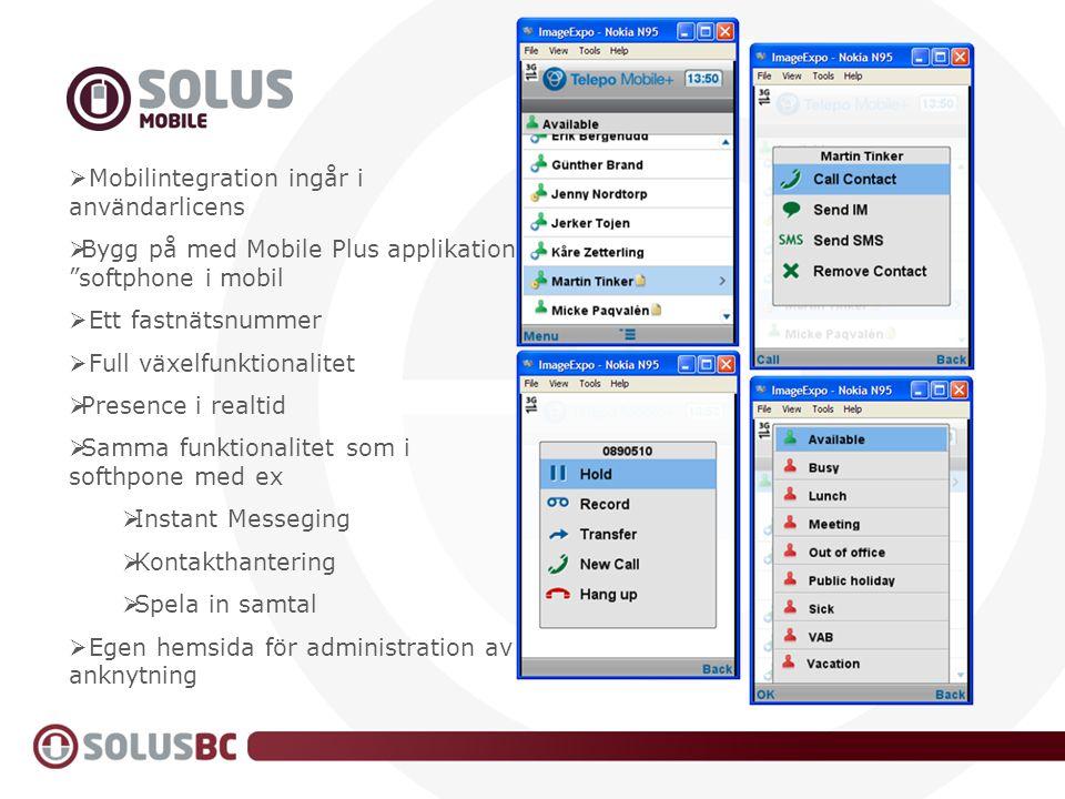 Mobilintegration ingår i användarlicens
