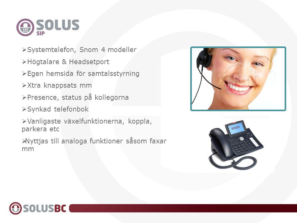 SIP Systemtelefon, Snom 4 modeller Högtalare & Headsetport
