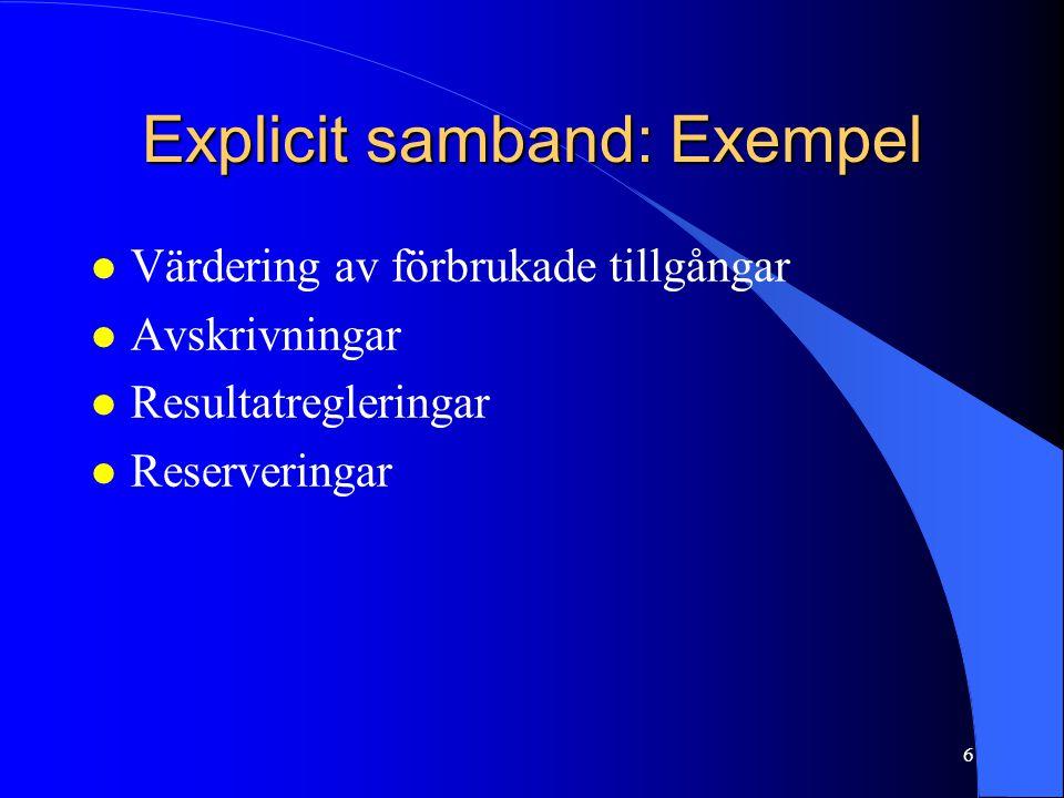 Explicit samband: Exempel