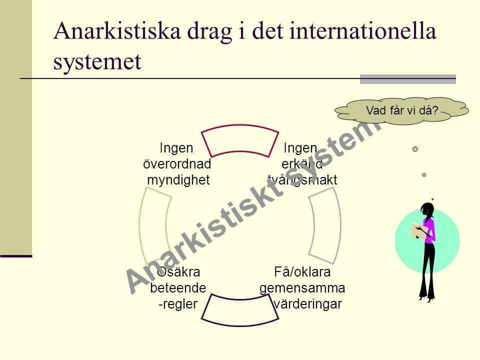 Anarkistiska drag i det internationella systemet