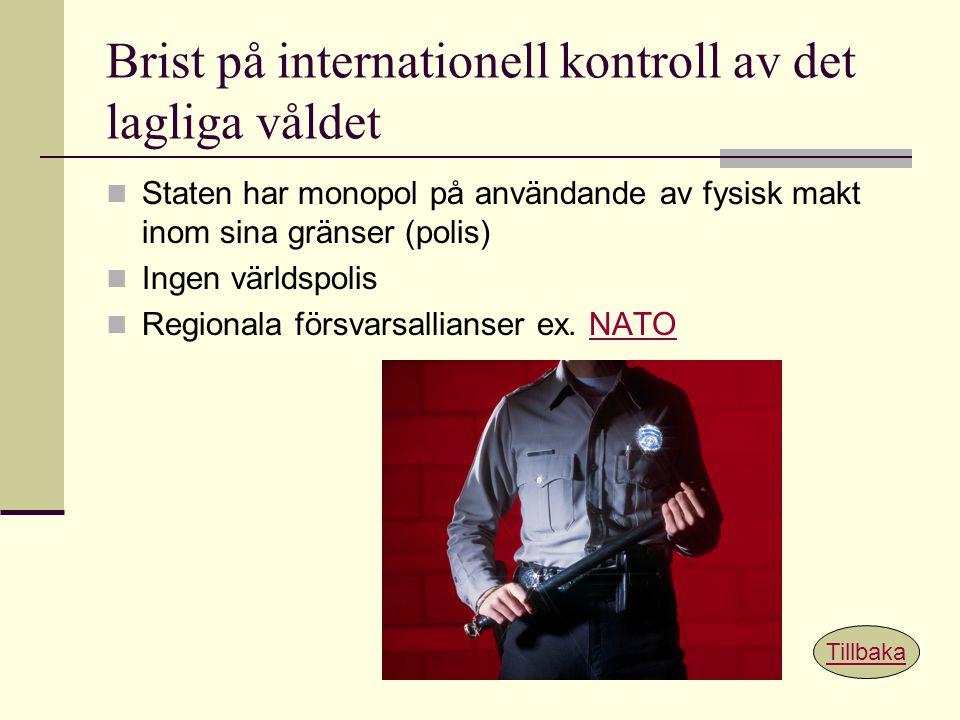 Brist på internationell kontroll av det lagliga våldet