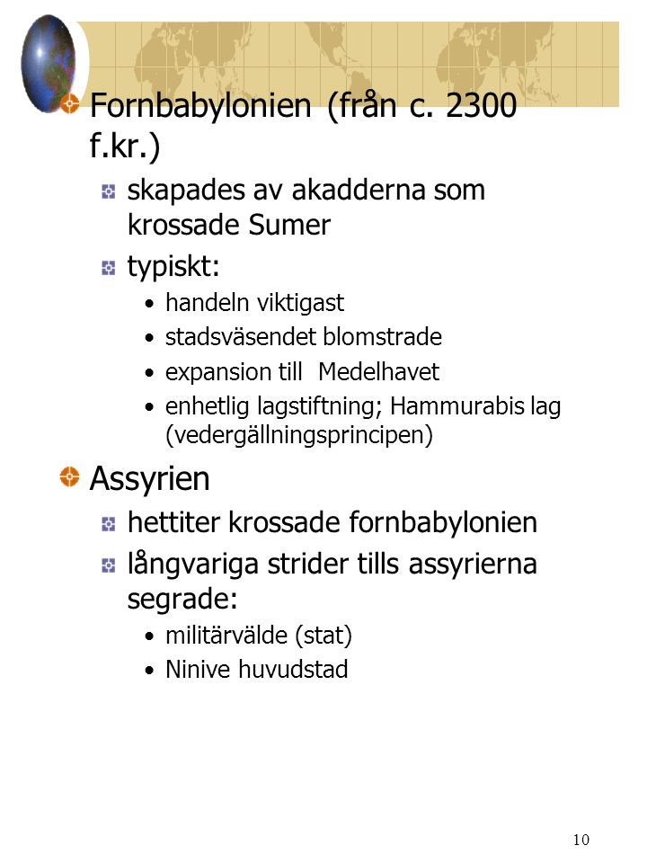 Fornbabylonien (från c. 2300 f.kr.)
