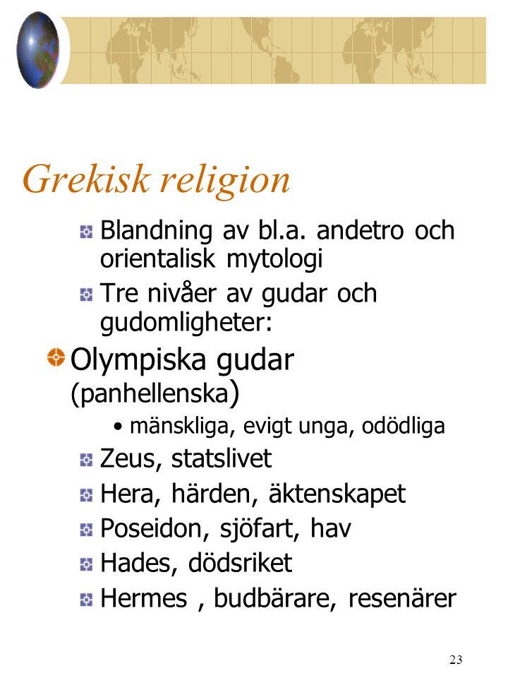 Grekisk religion Olympiska gudar (panhellenska)