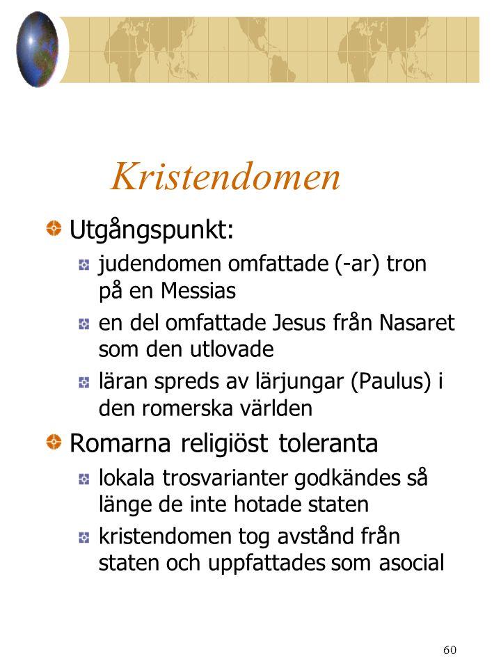 Kristendomen Utgångspunkt: Romarna religiöst toleranta