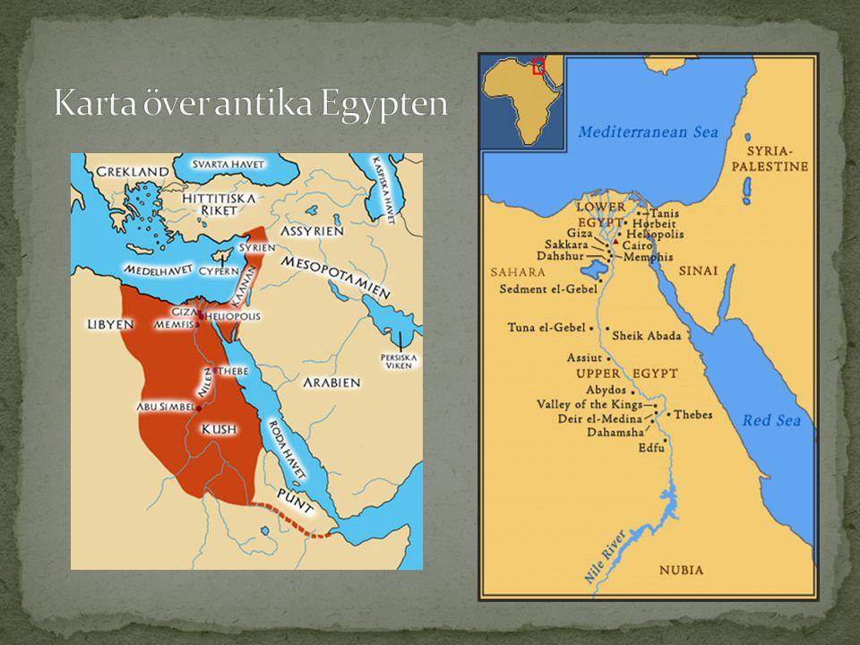 Karta över antika Egypten