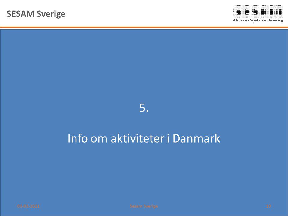 Info om aktiviteter i Danmark