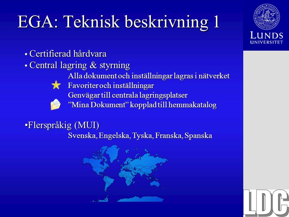 EGA: Teknisk beskrivning 1