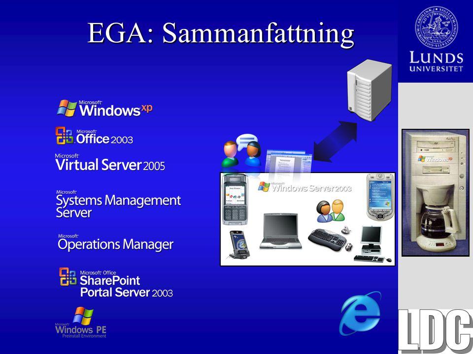 EGA: Sammanfattning
