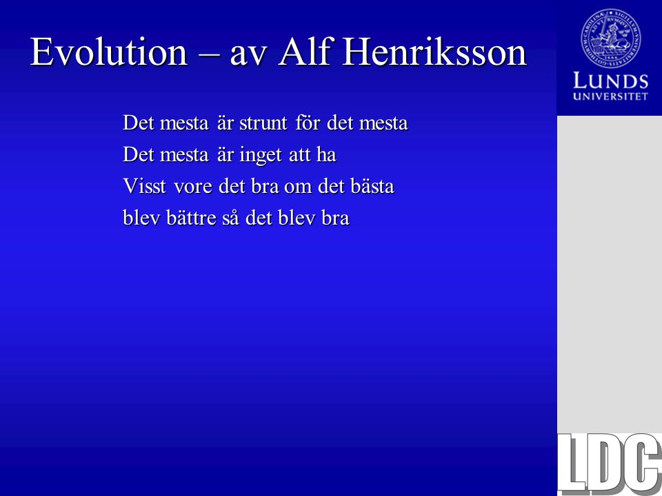 Evolution – av Alf Henriksson