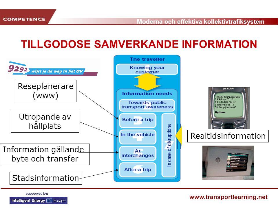 TILLGODOSE SAMVERKANDE INFORMATION