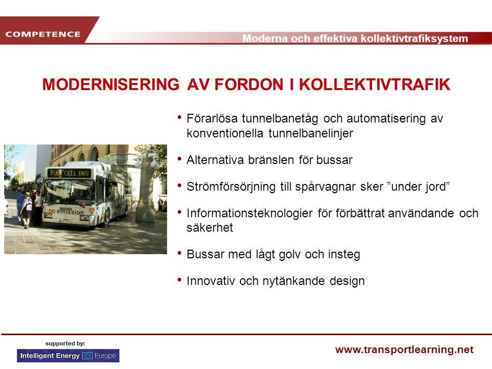 MODERNISERING AV FORDON I KOLLEKTIVTRAFIK