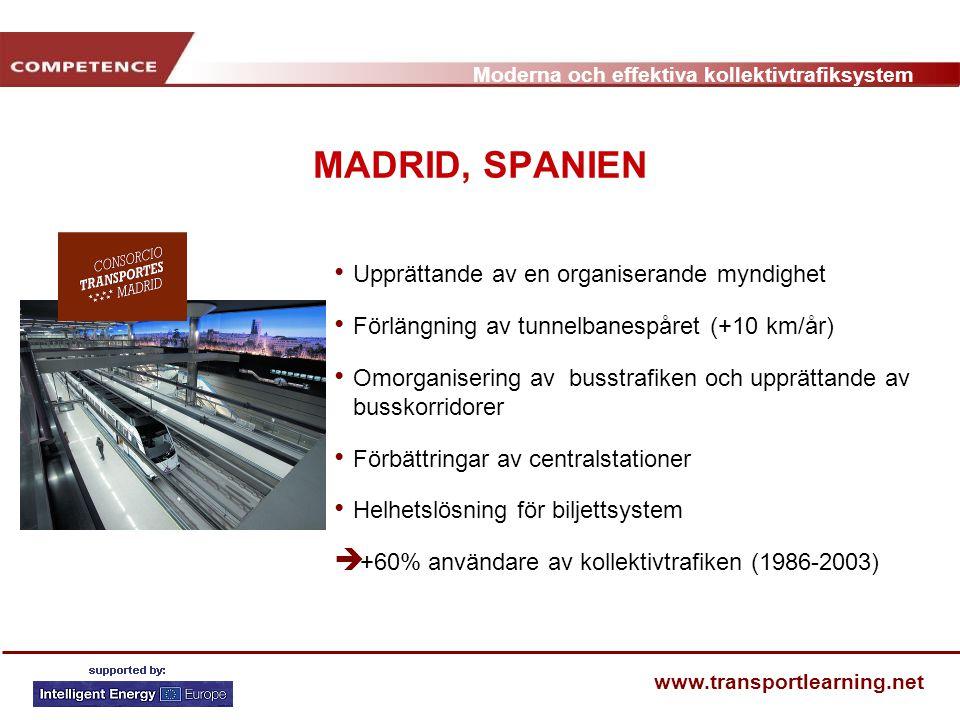 MADRID, SPANIEN Upprättande av en organiserande myndighet