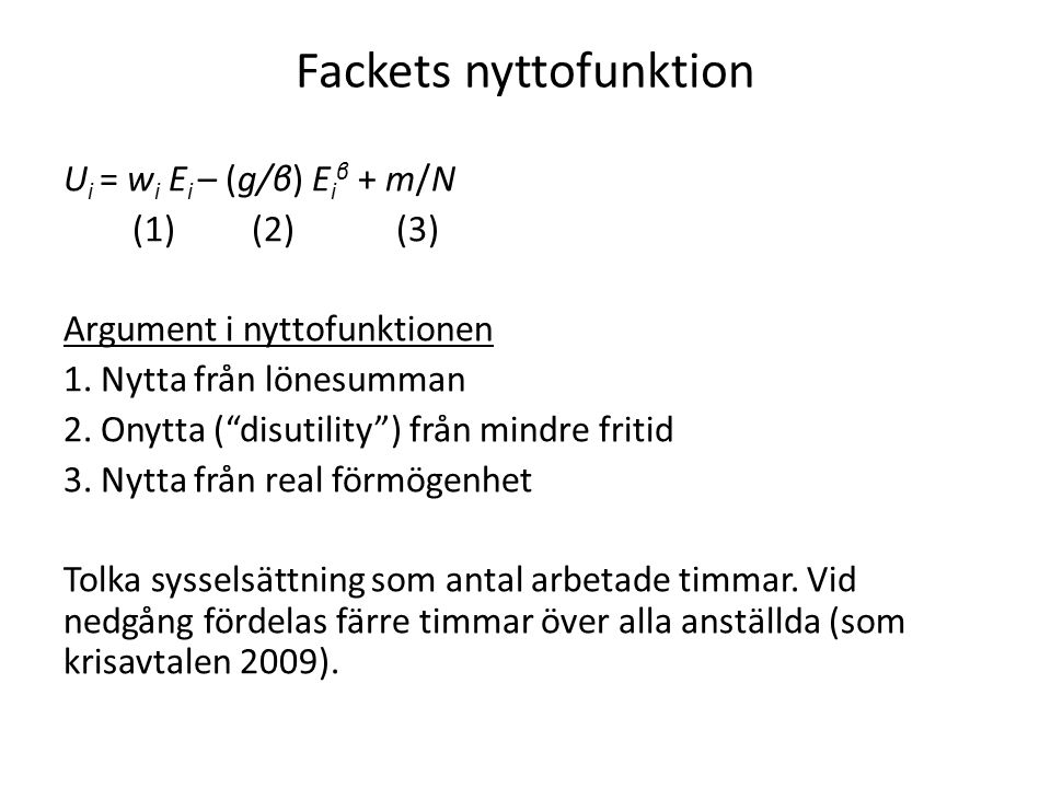 Fackets nyttofunktion