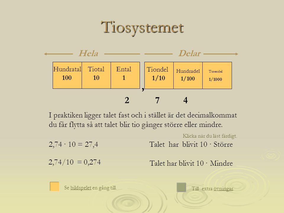 Tiosystemet , Hela Delar 2 7 4