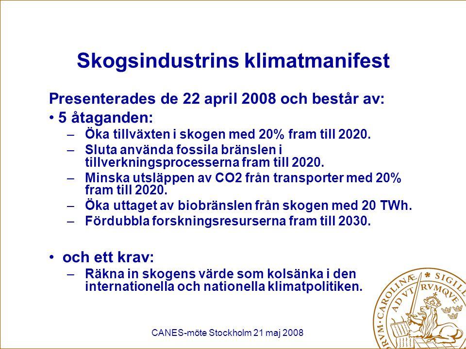 Skogsindustrins klimatmanifest