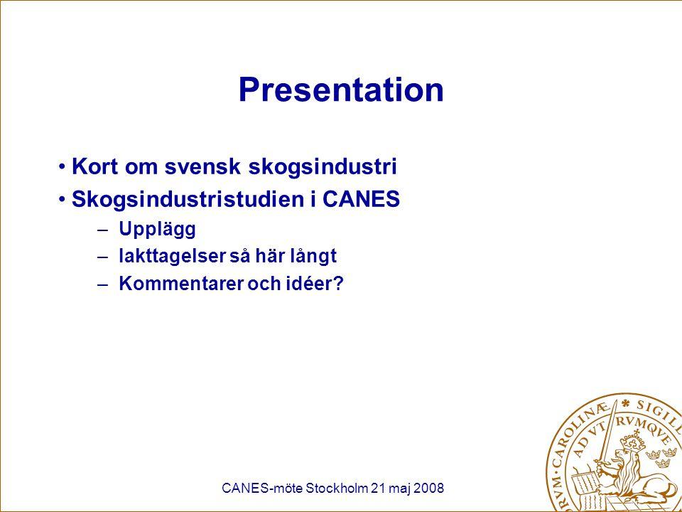 CANES-möte Stockholm 21 maj 2008