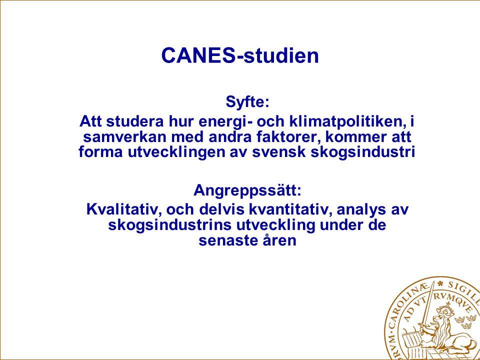 CANES-studien Syfte: