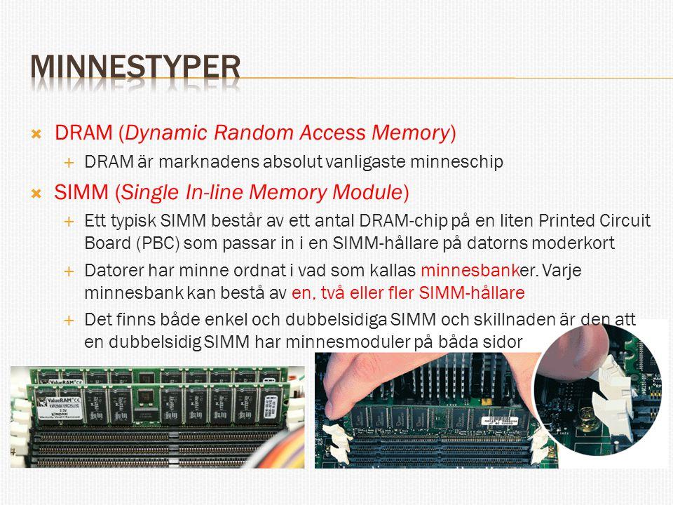minnestyper DRAM (Dynamic Random Access Memory)