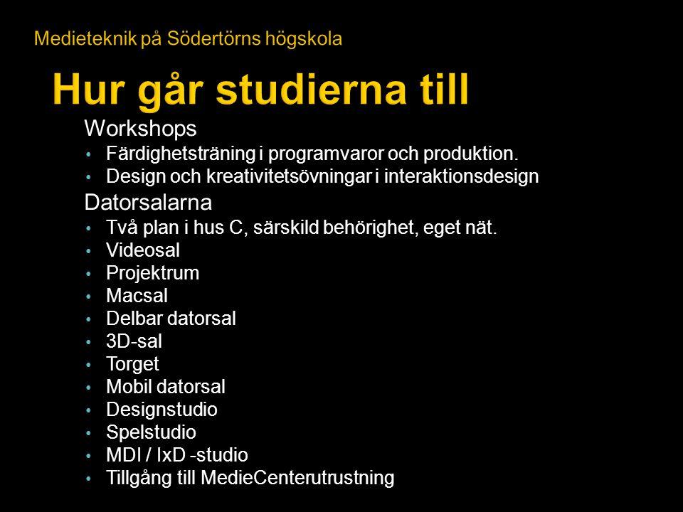 Hur går studierna till Workshops Datorsalarna
