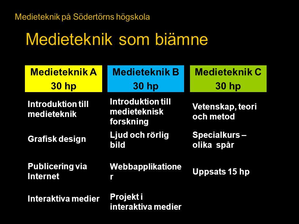 Medieteknik på Södertörns högskola