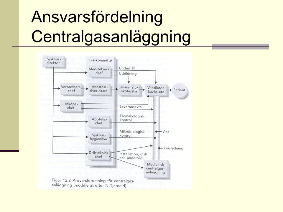 Ansvarsfördelning Centralgasanläggning