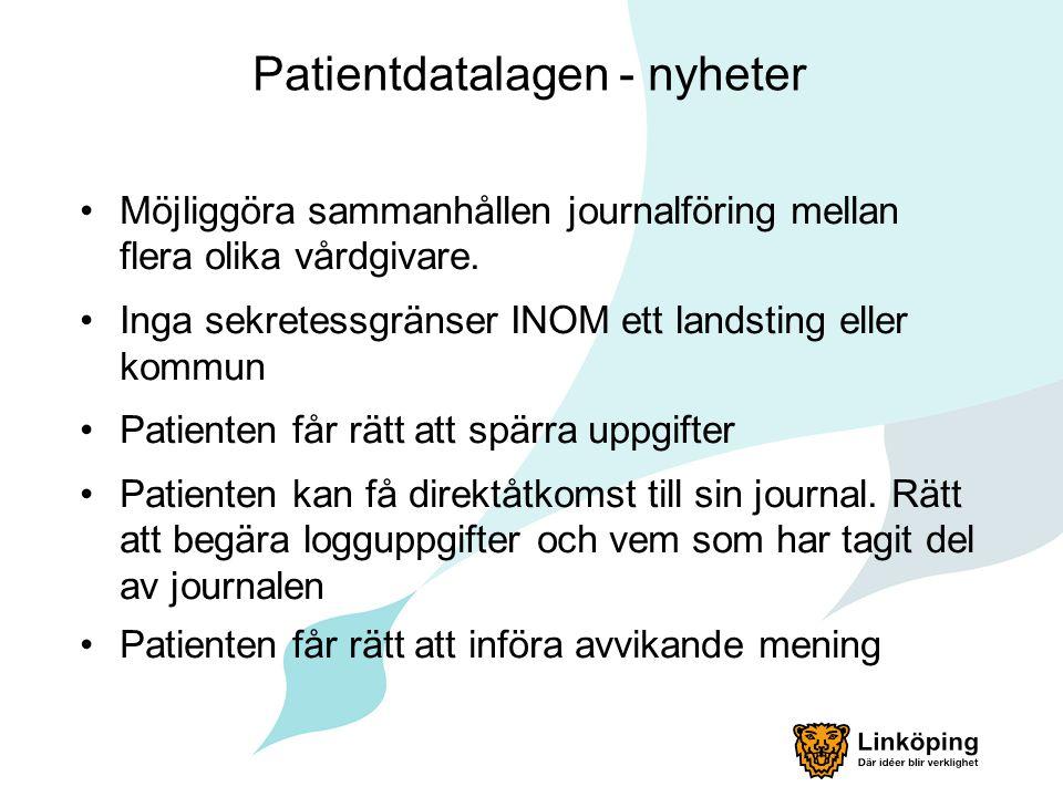 Patientdatalagen - nyheter