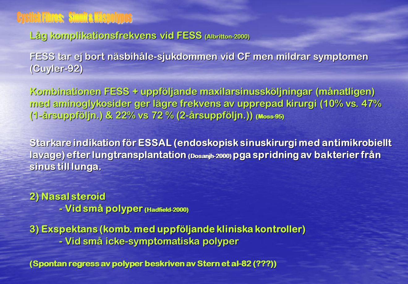 Cystisk Fibros: Sinuit & Näspolypos