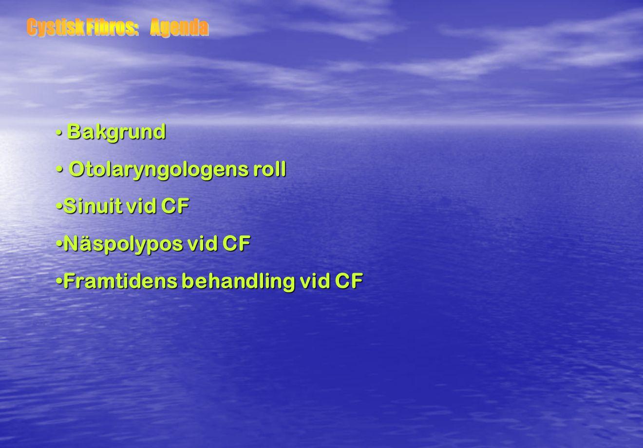 Cystisk Fibros: Agenda
