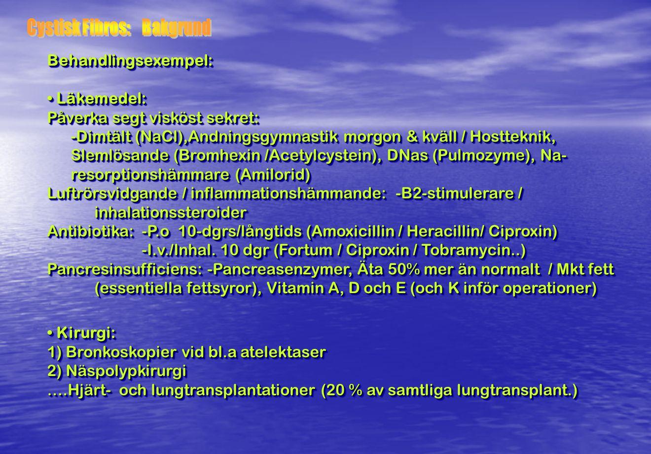 Cystisk Fibros: Bakgrund