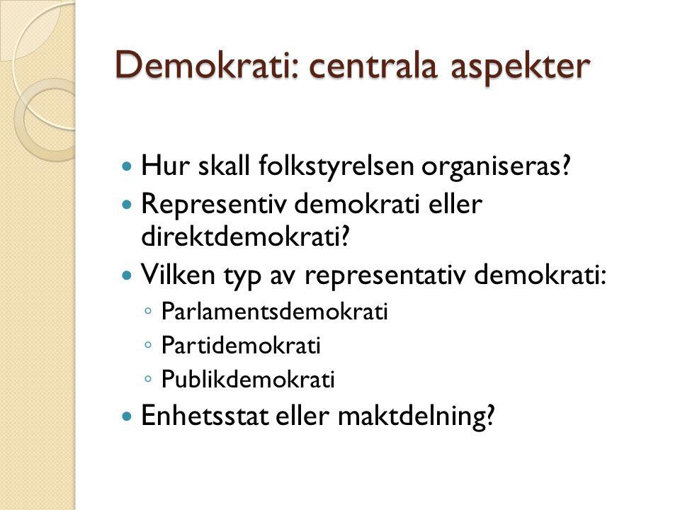 Demokrati: centrala aspekter