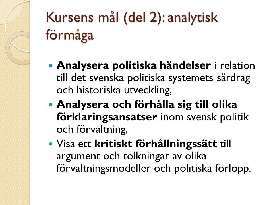 Kursens mål (del 2): analytisk förmåga