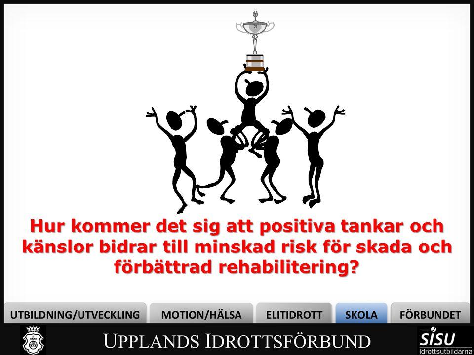 Bild 1 Hur kommer det sig att positiva tankar och känslor bidrar till minskad risk för skada och förbättrad rehabilitering
