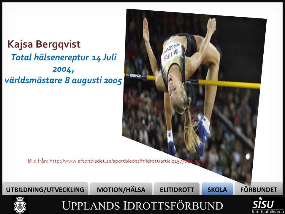 Total hälsenereptur 14 Juli 2004, världsmästare 8 augusti 2005
