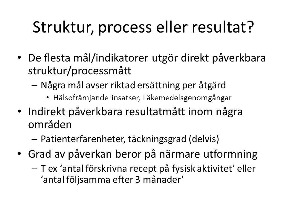 Struktur, process eller resultat