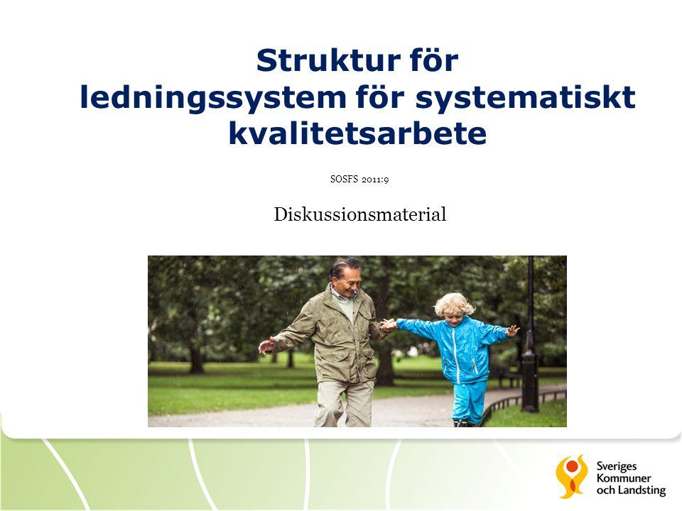 Struktur för ledningssystem för systematiskt kvalitetsarbete