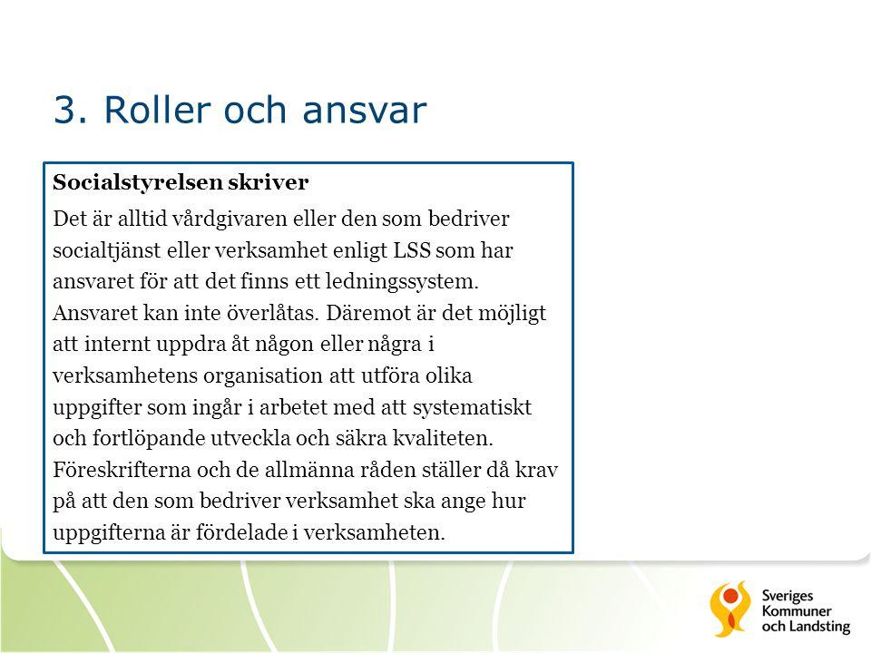 3. Roller och ansvar
