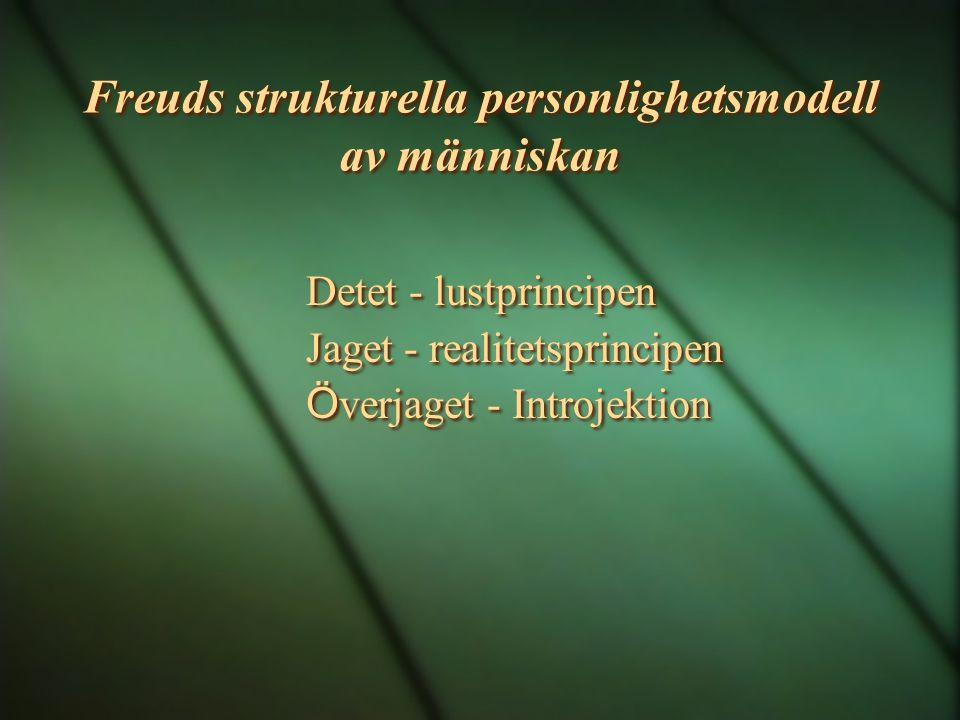 Freuds strukturella personlighetsmodell av människan