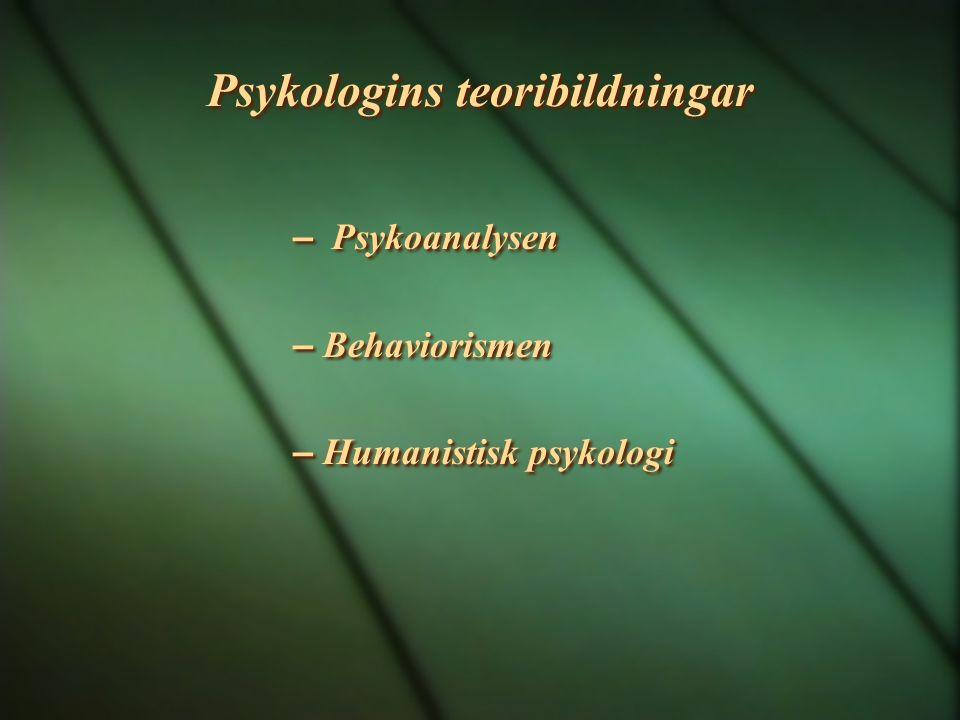 Psykologins teoribildningar