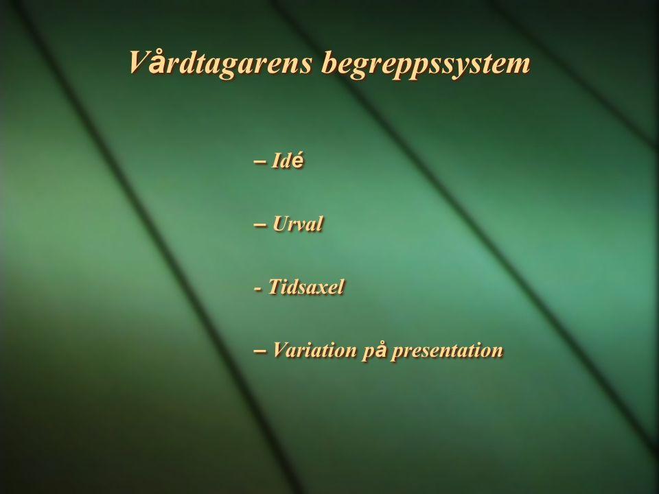 Vårdtagarens begreppssystem