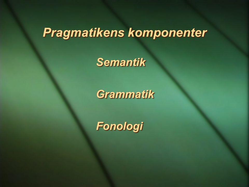Pragmatikens komponenter