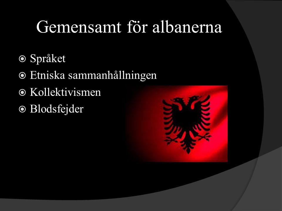 Gemensamt för albanerna