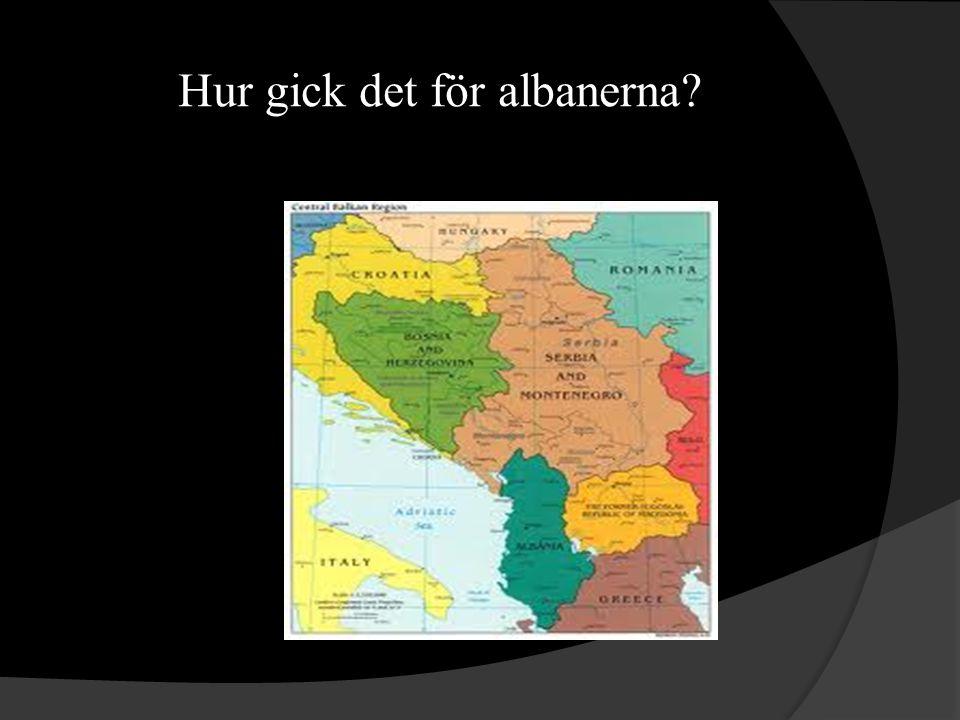 Hur gick det för albanerna