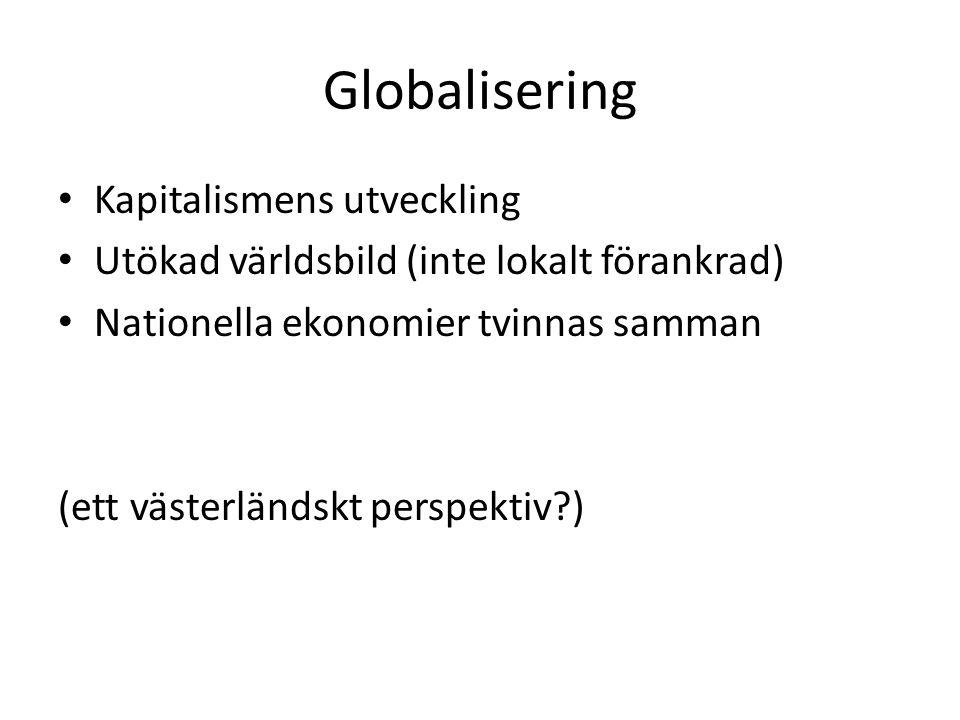Globalisering Kapitalismens utveckling