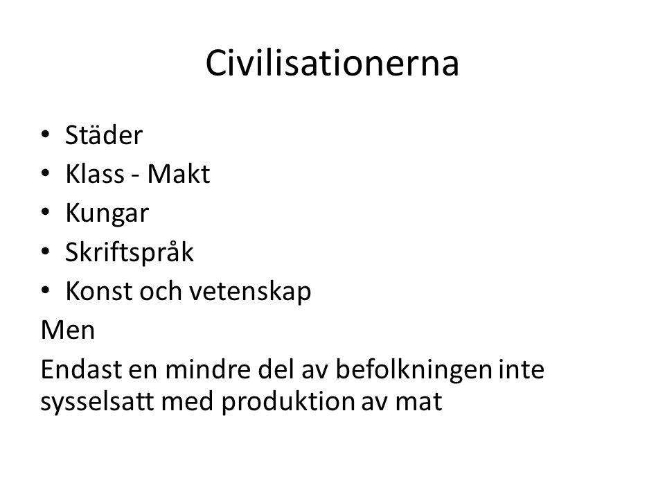 Civilisationerna Städer Klass - Makt Kungar Skriftspråk