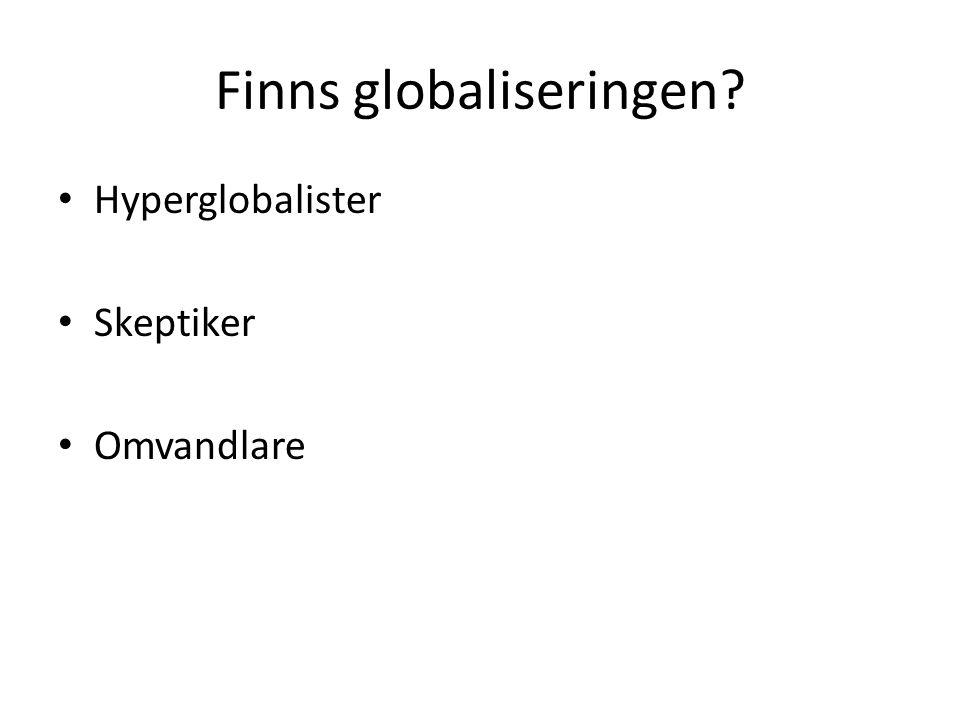 Finns globaliseringen