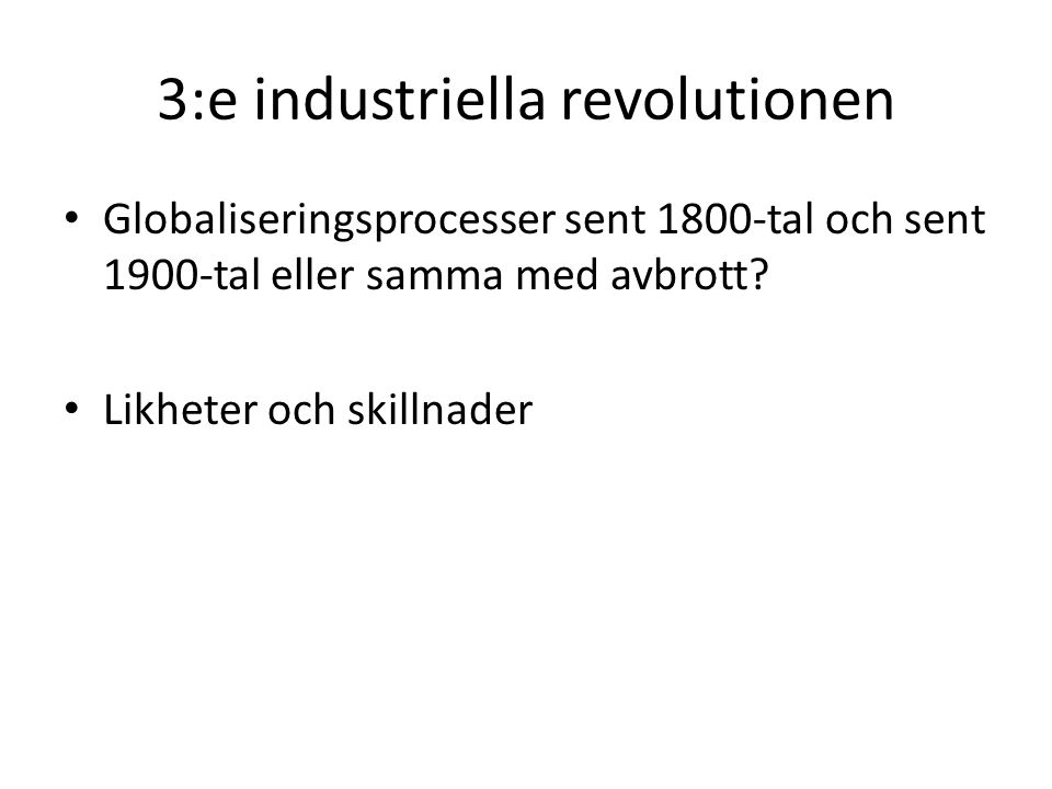3:e industriella revolutionen